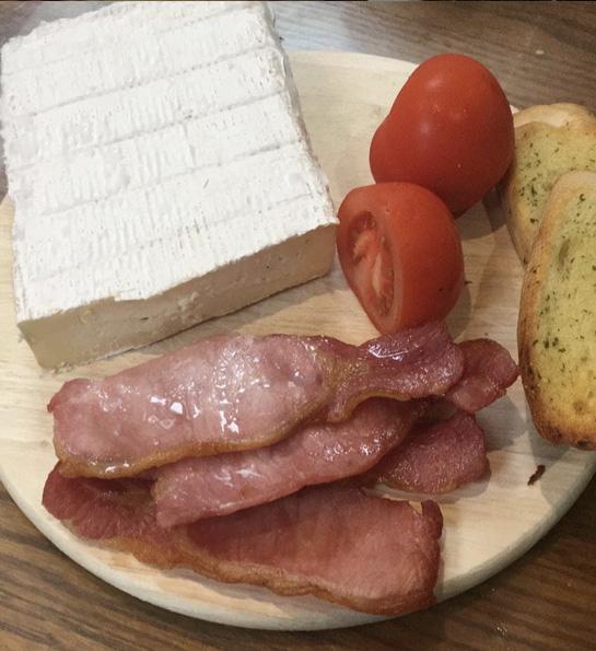 Bernie's Bacon Brie and Garlic Bread Melt